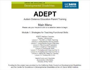 ADEPT Training Module 1